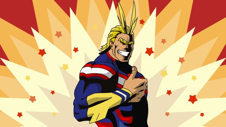 OC][Fanart] All Might Wallpaper anime in 2020 Anime