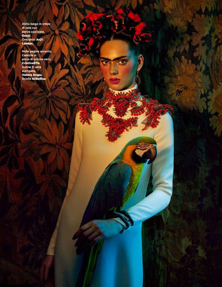 Agnes Sokolowska as Frida Kahlo for Amica May 2013