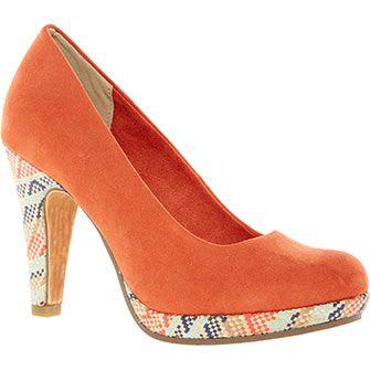 Marco Tozzi Orange Court Heels