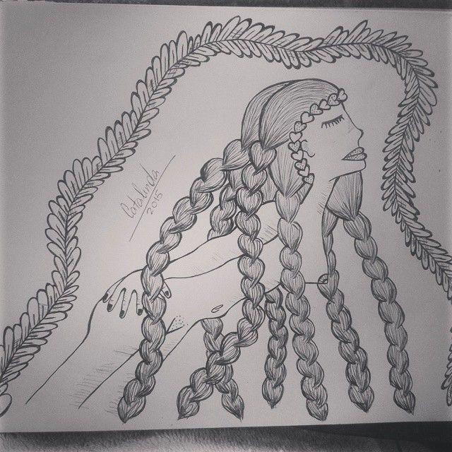 El encanto femenino #mujer #ilustración #poderfemenino