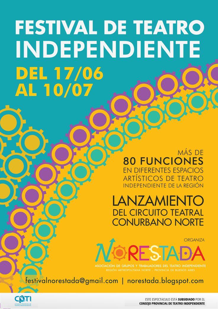 Afiche Festival de Teatro Independiente Norestada. 2011