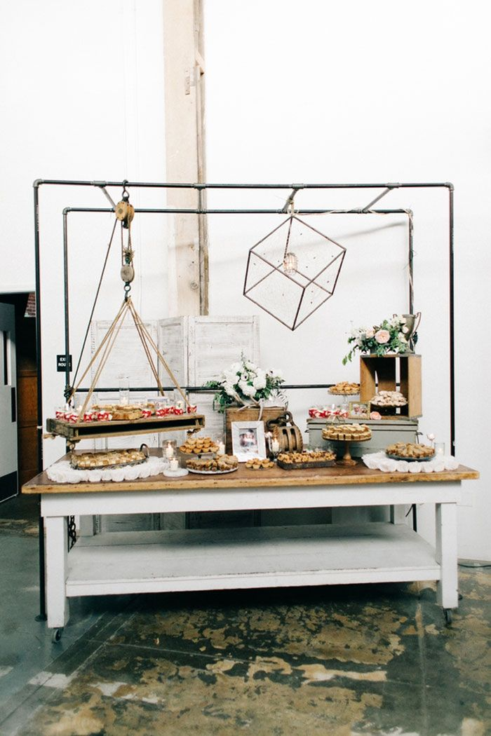 We're loving every last, industrial-chic detail of Julia and Bobby's gorgeous wedding atBeatnik Studios. The vintage-inspired engagement ring, the cascad