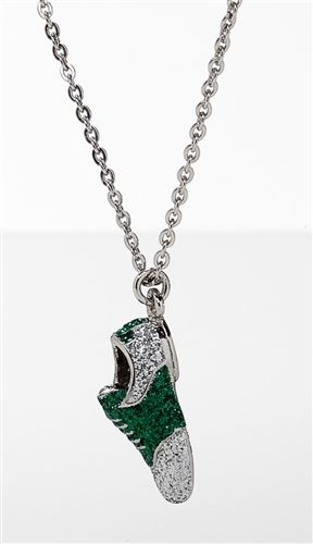 64 best golf jewelry collection images on pinterest charm diamond dusted golf shoe pendant emerald green navikaproductp aloadofball Images