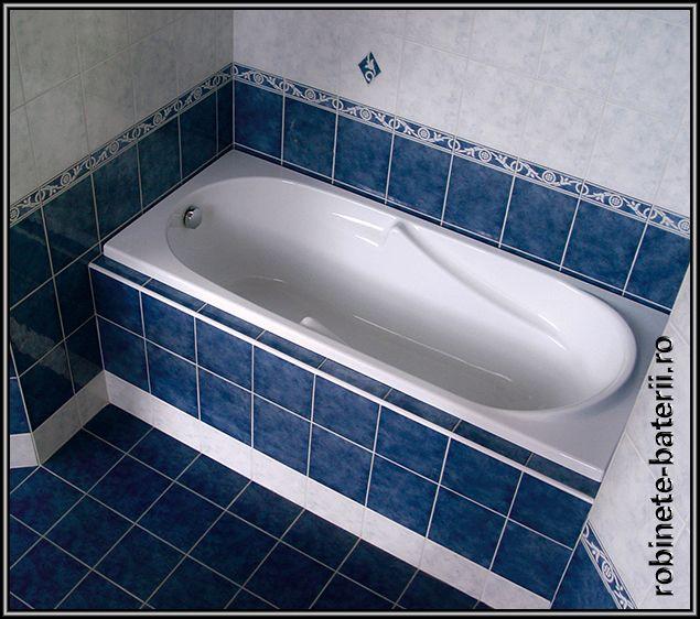 Cada baie Fatima din compozit marmura 160 x 70 cm