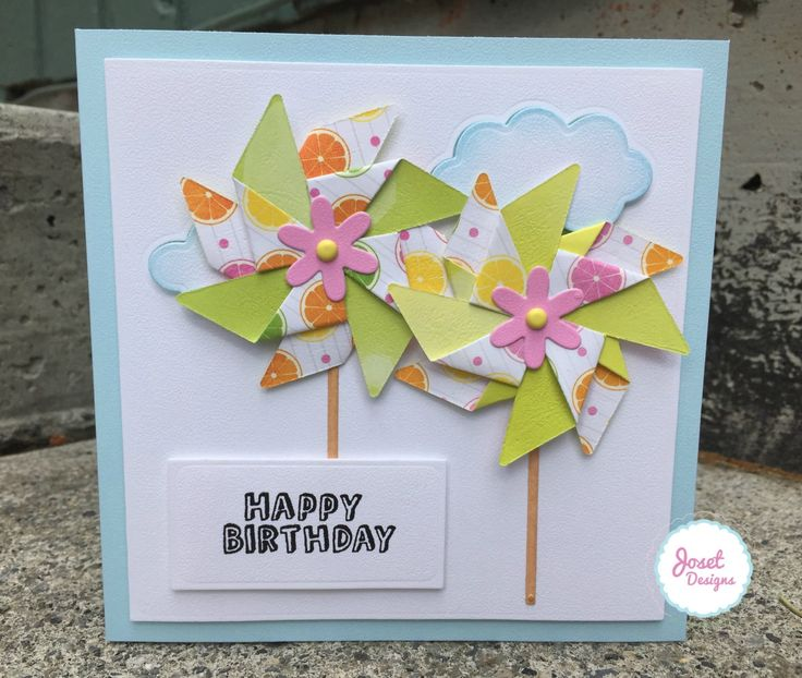 1000 images about Birthday Cards Pinwheels – Birthday Cards Craft