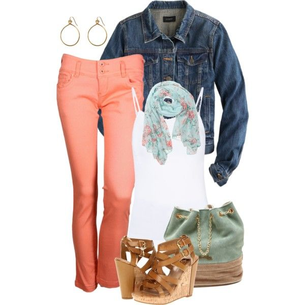 A fashion look from April 2014 featuring ONLY tops, J.Crew jackets and Tantra pants. Browse and shop related looks.