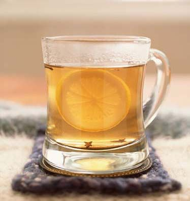 Hot Toddy- the best remedy for a cold. I couldn't find my recipe anywhere online so here it is: Sleepytime tea, a shot of whiskey, a tablespoon of honey, and lemon if you like (I don't). This will definitely help you sleep well when you're sick.