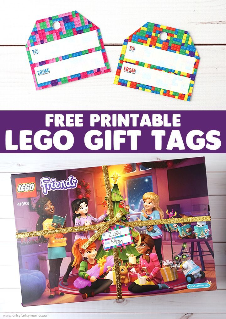 Lego Friends Advent Calendar 2018 Free Printable Lego Gift Tags Lego Gifts Free Printable Gift Tags Birthday Birthday Gift Tags Printable
