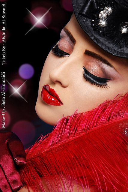 A Night At The Moulin Rouge by S.H Make-Up Artist, via Flickr