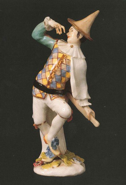 Dalla nostra collezione: Arlecchino, manifattura di Meissen, Germania, c. 1743 - 1760, porcellana dura policroma invetriata e dorata, Museo Giuseppe Gianetti, Saronno (inv. 356) #dance