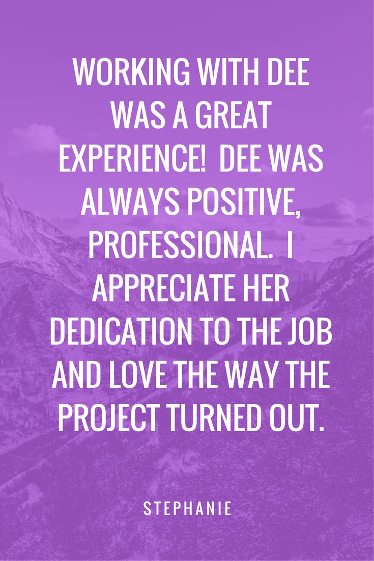 Awesome Testimonials for DeeDeeCreative