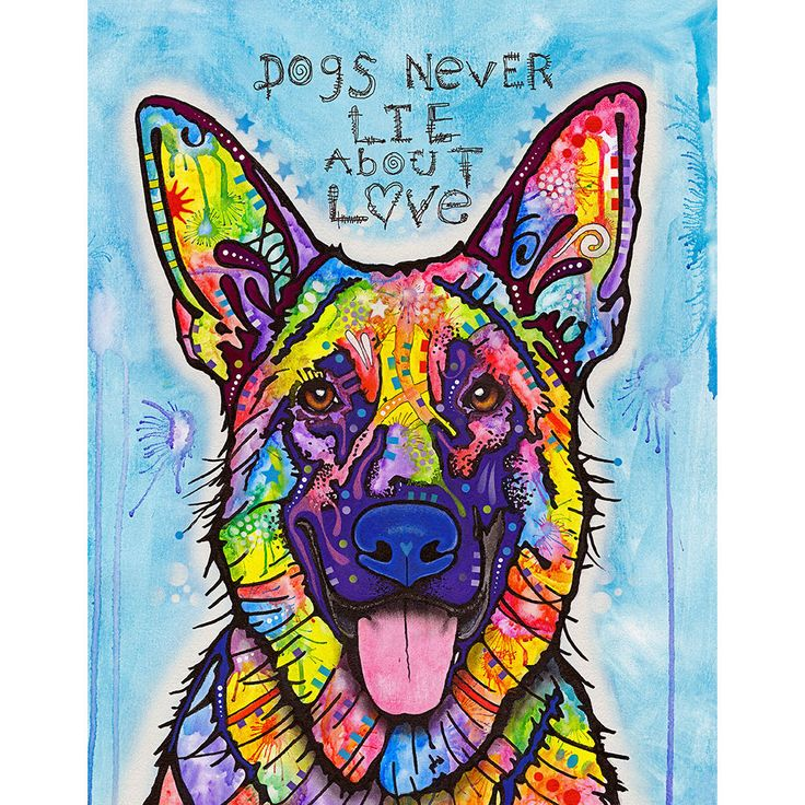 Dogs Never Lie German Shepherd Wall Sticker Decal - Animal Pop Art by