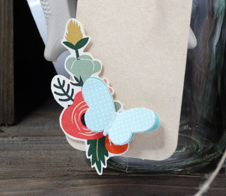 We have used DIYI Swingin Tags and DIYI Stitched Butterflies to create this sweet tag.  Great to use for most favours or table stationery.