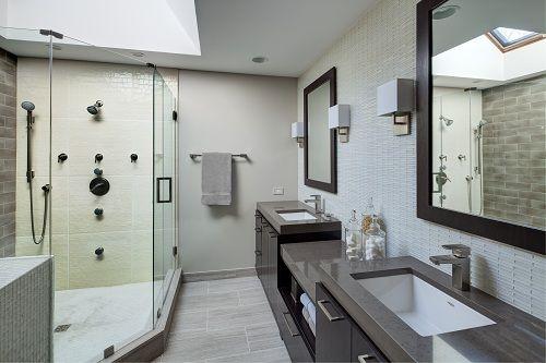 Modern yet classic neutral bathroom design