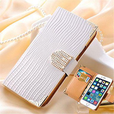 portefeuille de luxe avec cristaux de fente de carte bling étui en cuir PU strass couvercle de téléphone pour iPhone 5 / 5s (couleurs - EUR € 3.91