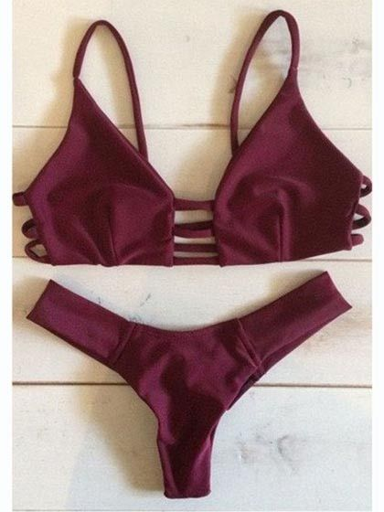 Ruby Strappy Cross Bikini Top And Hipster Bottom
