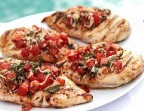 HCG Recipe Phase 2 - Chicken Bruschetta   HCG 411 Blog