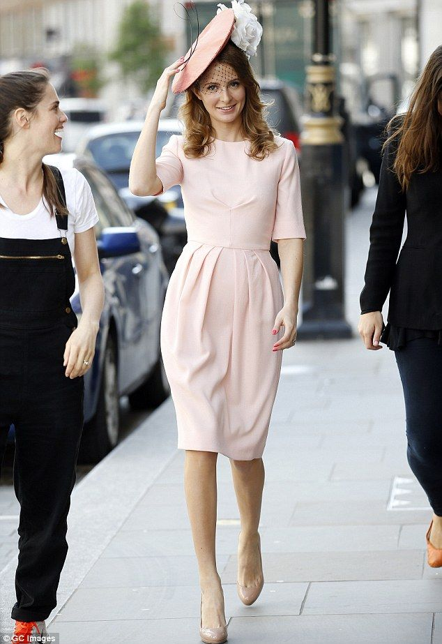 Be a pink lady with Millie Mackintosh's tulip dress #DailyMail