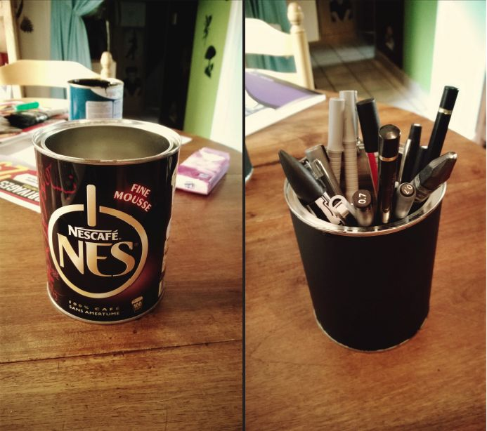 DIY - how to create a pen jar with a coffee tin