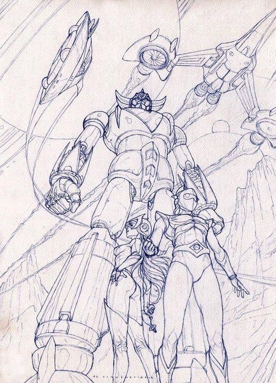 Risultati immagini per harlock spaceship drawing