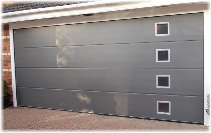 CarTeck sectional GSW40 sectional doors have 40mm thick panels constructed of an outer and inner & 12 best Sectional Overhead Doors images on Pinterest | Industrial ...