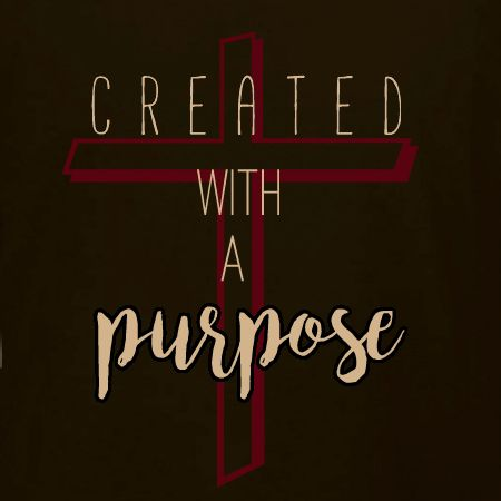 Created With A Purpose Christian T Shirt Design Idea And Template.  Personalize Our Templates