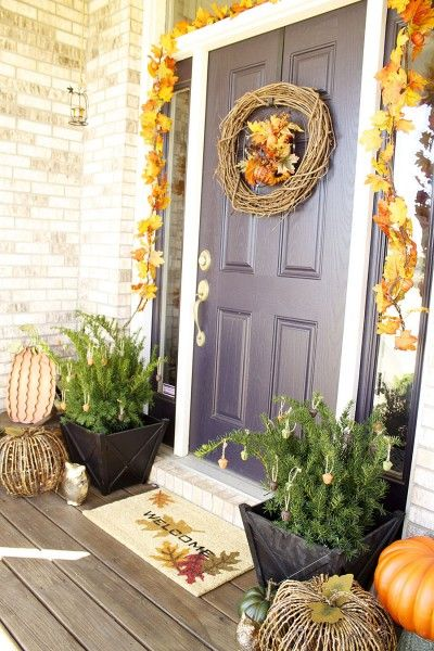 pottery barn inspired fall porch