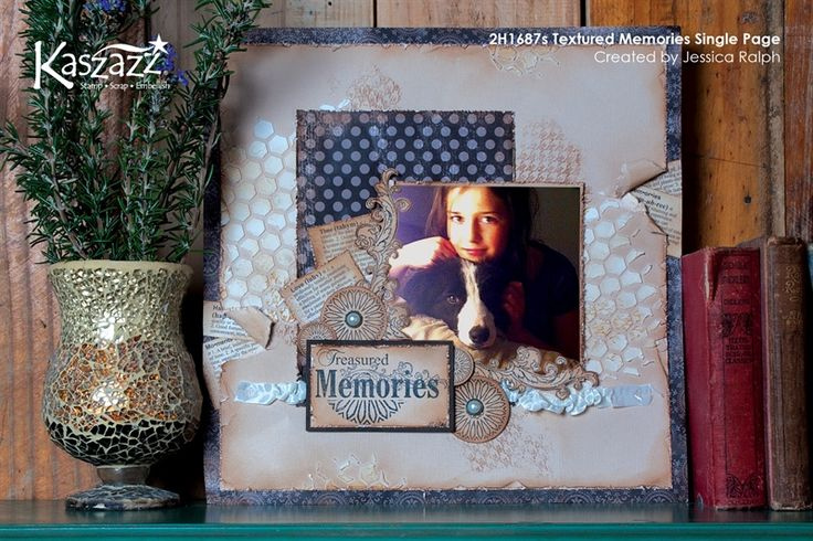 2H1687s Textured Memories Single Page