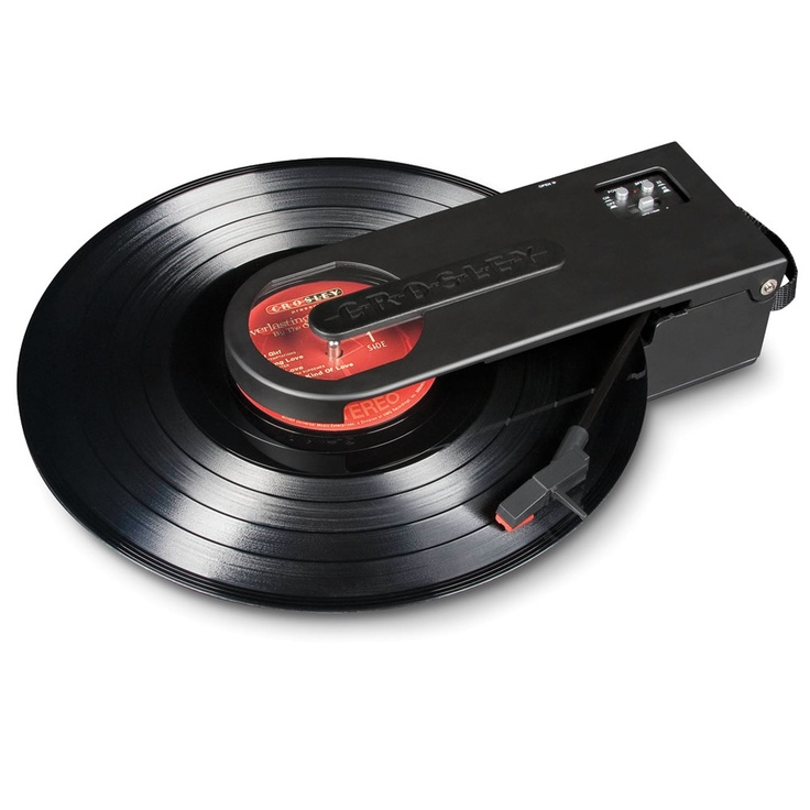 The Portable LP To MP3 Turntable - Hammacher Schlemmer
