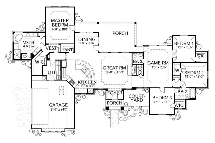 13 best images about 2 500 to 3 000 sf on pinterest for 3000 sq ft mediterranean house plans