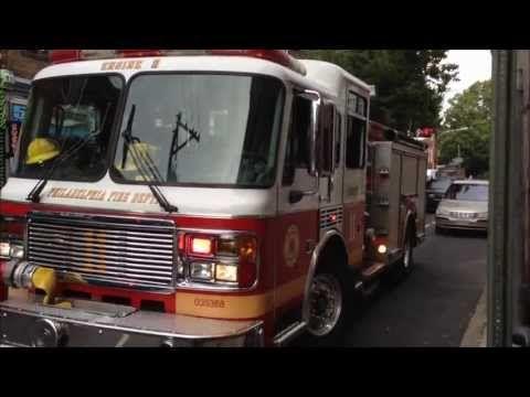 PHILADELPHIA FIRE DEPARTMENT ENGINE 11 ON SCENE NEAR SOUTH STREET IN PHILADELPHIA, PENNSYLVANIA. - YouTube