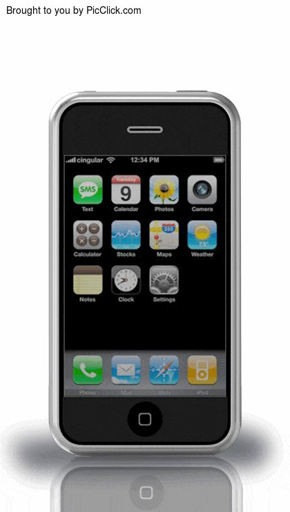 歴代iPhoneの進化が見えるアニメーション
