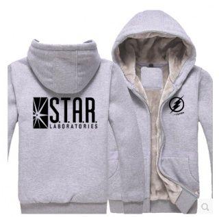 The Flash zip up hoodies for men winter fleece hoodie