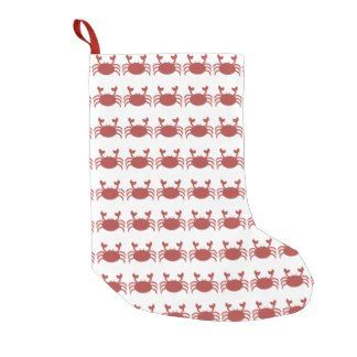 Beachy Christmas Stocking Red Crabs