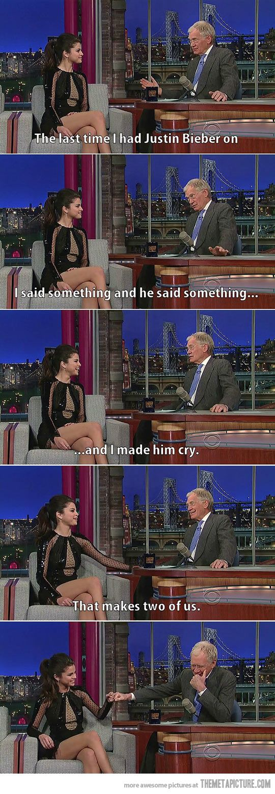 Hahah my dad told me about this! ****I'M NOT HATING**** But I just really have never like Selena all that much...but this is funny