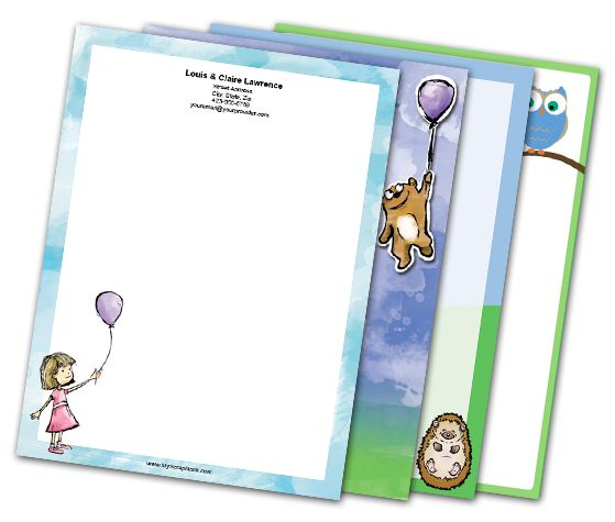 Download this Cute Happiness Letterheads and other free printables from MyScrapNook.com