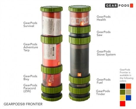 GearPods - Survival Kit Containers -- I love this idea.