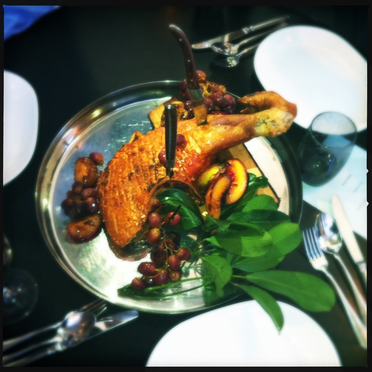 Game of Thrones - Gastro Park - 24/03/2012 - Chunk of Wild Pig Served on Godswood Log, Forest Fruits