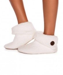 Shaggy Bootie - Ivory