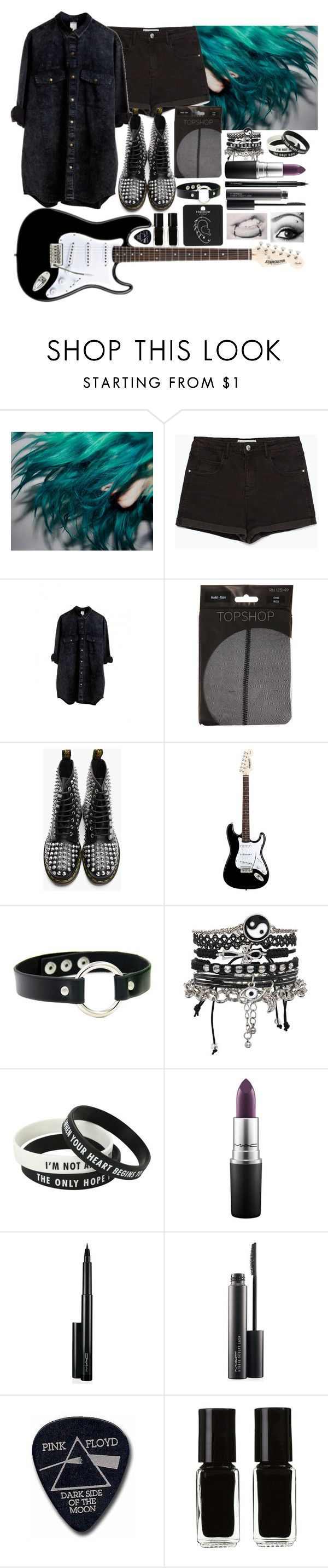 """""""[Concert in Colombia w/ the girls]"""" by purplemonkeys005 on Polyvore featuring Zara, Monki, Dr. Martens, ASOS, MAC Cosmetics, Floyd, The New Black, Topshop and mandy"""