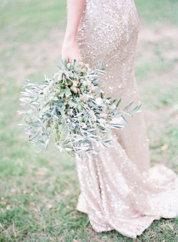 Shimmering sequin Zahavit Tshuba wedding gown // The Wedding Scoop Spotlight: Sparkly Wedding Dresses - Part 2