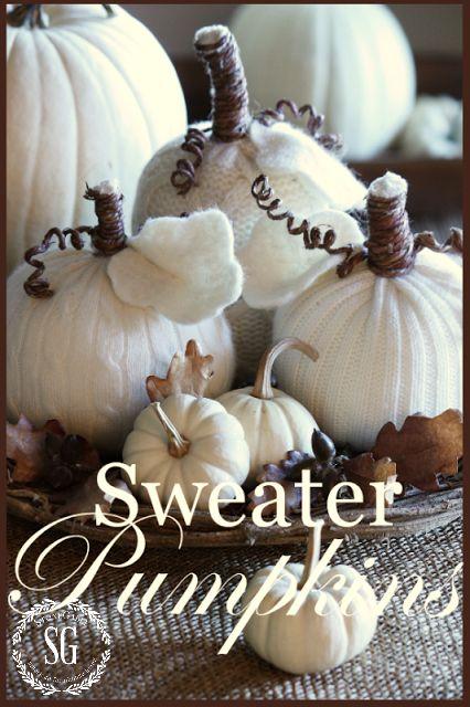 Sweater Pumpkin -stonegableblog.com