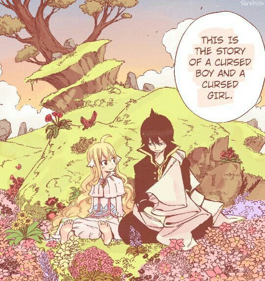 This is the story of a cursed boy and a cursed girl, Zeref, Mavis, young, childhood, cute, sad, flowers; Fairy Tail