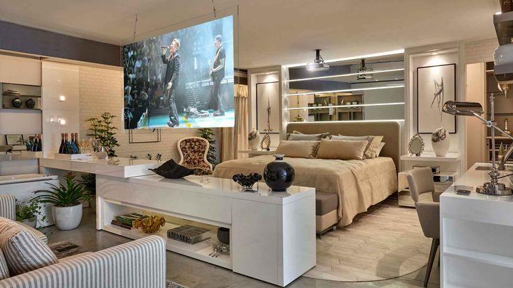 decoração sala apartamento solteiro masculino - Pesquisa Google - charmantes appartement design singapur