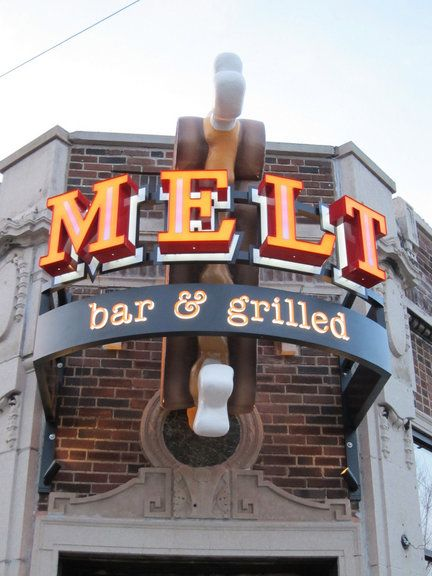 Melt Bar & Grilled, Cleveland, Ohio:the ridiculously amazing joint that serves up dozens of hulking variations of the classic sandwich packed with everything from pulled pork to steak, pierogies, fish, and lasagna.