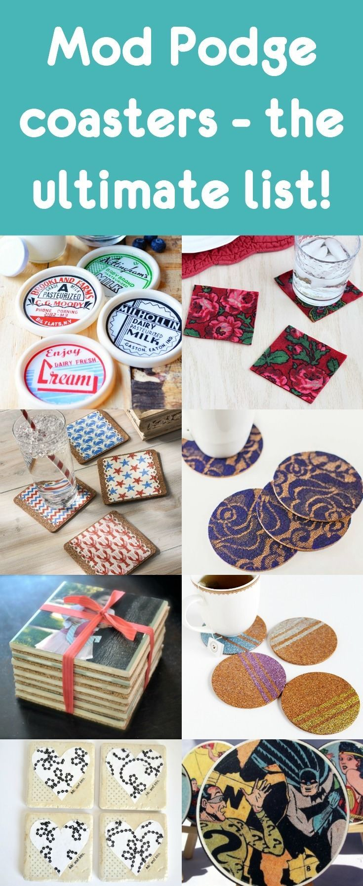 Want to make Mod Podge coasters? This is the ultimate list of ideas! We have all types of tutorials, for all occasions like holidays, DIY gifts, and more. There's something for everyone here!