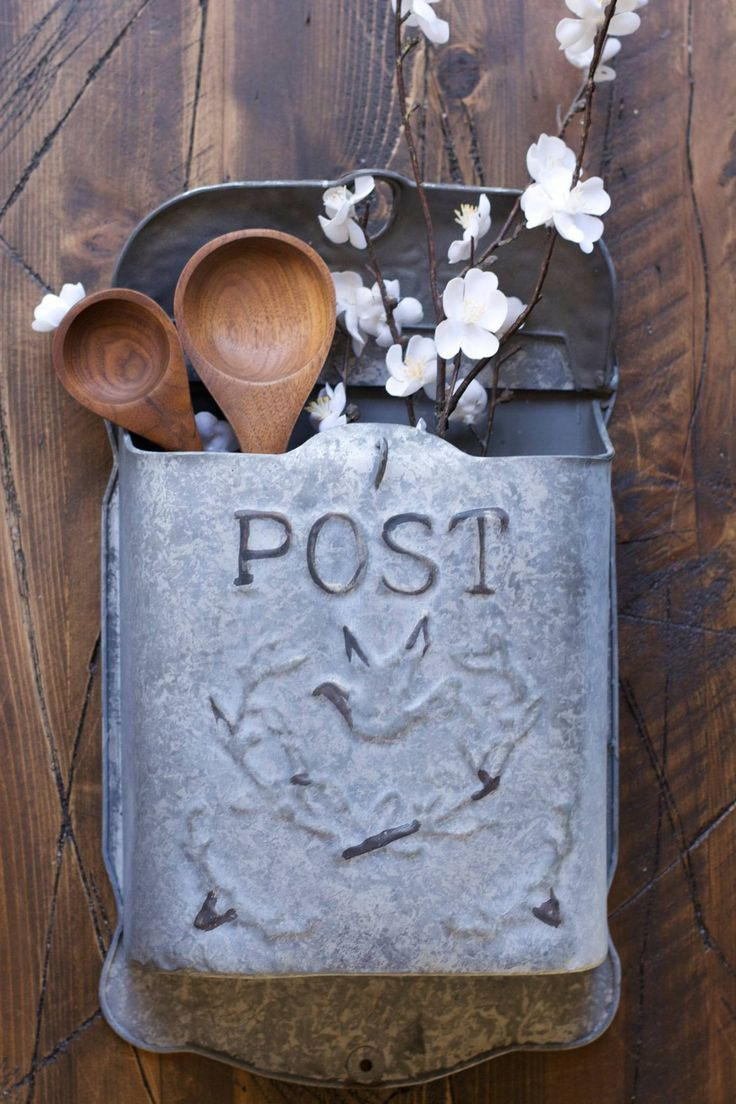 This Metal Post Box is the sister to our Aqua Post Box. This works perfectly as a functional mail box or a great decor piece! Follow Gin Creek Kitchen on Facebook for more Southern Inspired decor!