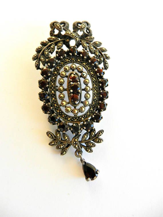 Exquisite Edwardian inspiration 925 sterling  Brooch with