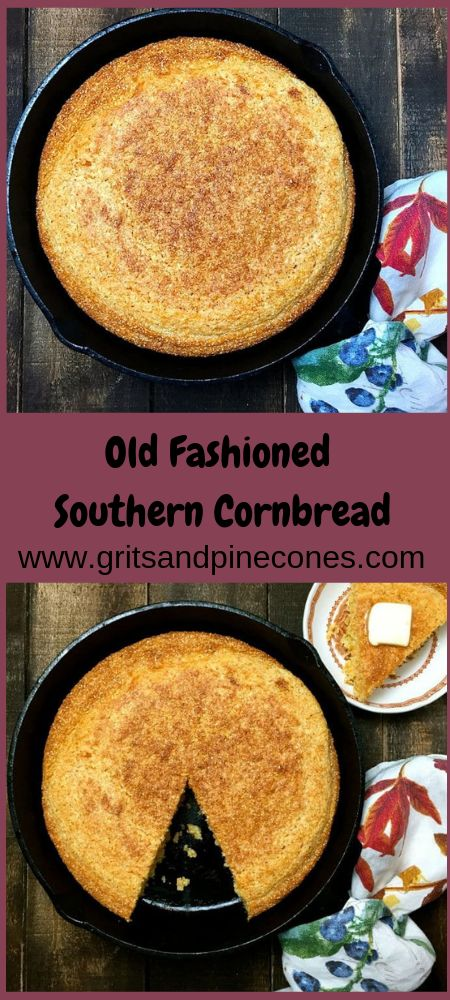 Old-Fashioned Southern Buttermilk Cornbread – Gluten Free