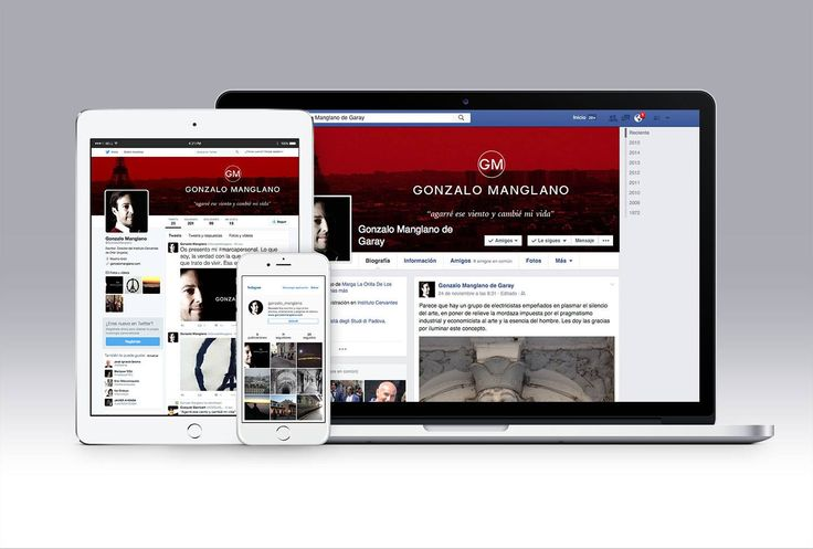 Web y Redes Sociales del escritor y Director del Instituto Cervantes de Orán, Gonzalo Manglano.
